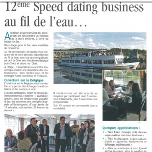 Presse 12ème Speed Dating Business juin 2014