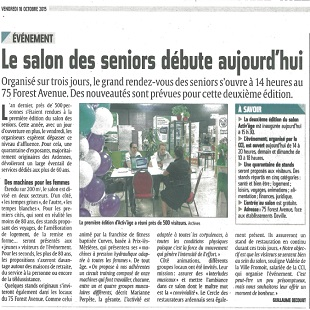 Salon Activ'âge 2015 Article L'Ardennais du 16/10
